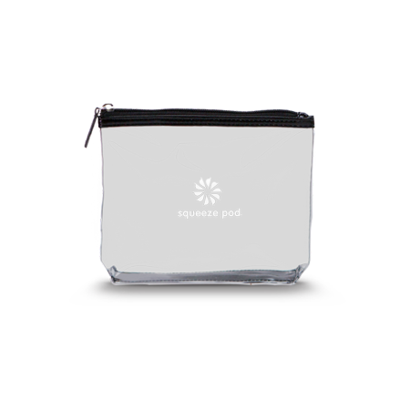 Squeeze Pod Clear Travel Toiletry Bag - TSA