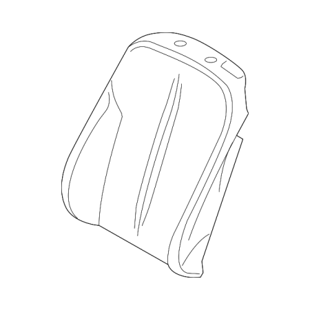 Genuine OE BMW Seat Back Cover 52-10-7-280-651 Bmw Genuine Seat Cover