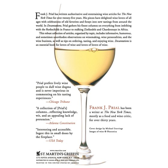 Decantations Reflections On Wine By The New York Times Wine Critic