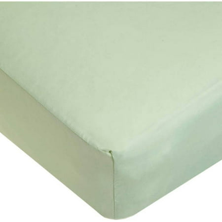 American Baby Company 100% Cotton Percale Fitted Crib Sheet, boy or girl, Celery