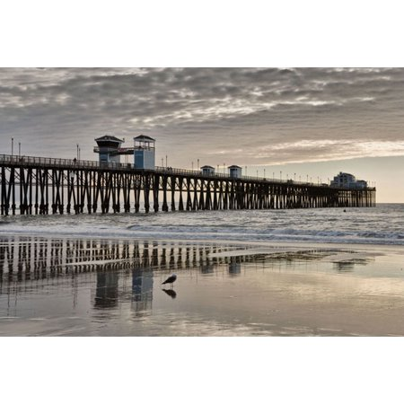 Pier Sunset 2, Fine Art Photograph By: Lee Peterson; One 36x24in Fine Art Paper Giclee Print (Halloween Home Decor Pier One)