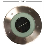 Commercial Solar 8 Inch Recessed Deck Dock Patio Pathway Light w/ 8 White LED's