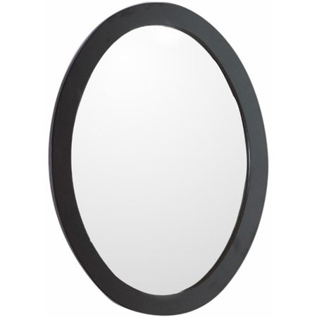 Bellaterra Home Oval framed mirror-manufactured wood-espresso ()