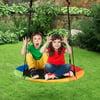 Goplus 40'' Flying Saucer Tree Swing Indoor Outdoor Play Set Kids Christmas Gift BlueGreen Pink