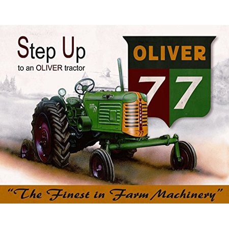 "8"" x 10"" Old Tin Sign Oliver - 77 Tractor"