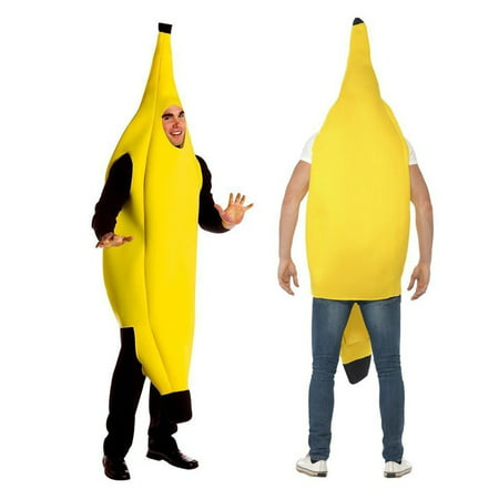 Womens Costumes For Men (Unisex Banana Adult Costume Funny Suit,iClover Lightweight Men Women Children Costumes for Christmas, Cosplay, Festival,New)