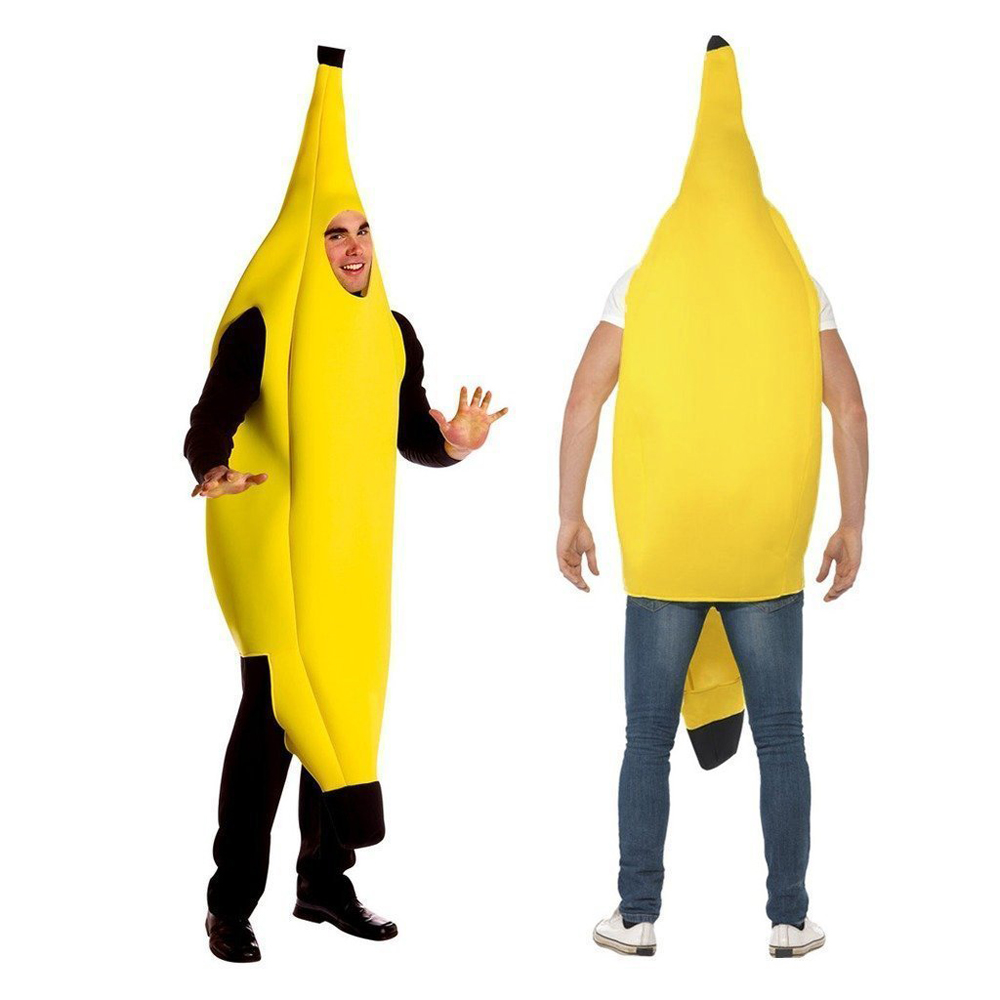 Unisex Banana Adult Costume Funny Suit,iClover Lightweight Men Women Children Costumes for Christmas, Cosplay, Festival,New Year,Birthday,Party