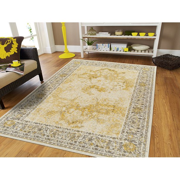 Large Rugs8 by 10 Cream Yellow Living Room Rugs 8x10 ...