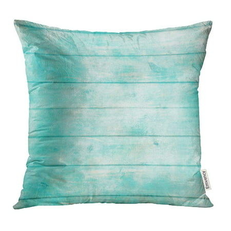 CMFUN Shabby Chic Wood Rustic Old Plank in Turquoise Mint and Beige Colors with Scratches Pillow Case Pillow Cover 16x16 inch Throw Pillow Covers (Rustic Turquoise Throw Pillows)