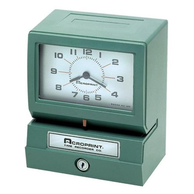 Acroprint Time Recorder 01207040A Model 150 Heavy-Duty Analog Automatic Print Time Clock
