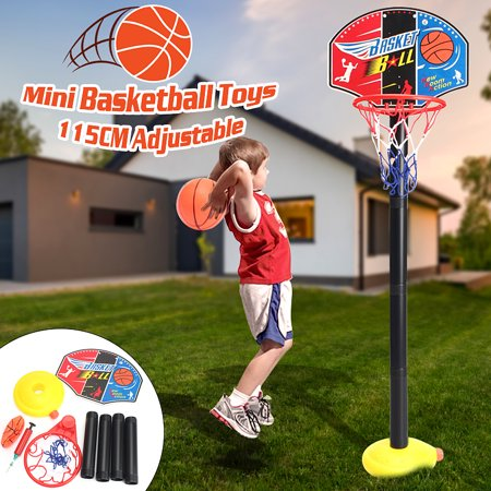 - 4 Type Adjustable Mini Backboard Hoop Net Set with Basketball Portable Sports Basketball System Toy Gift For Child Kids