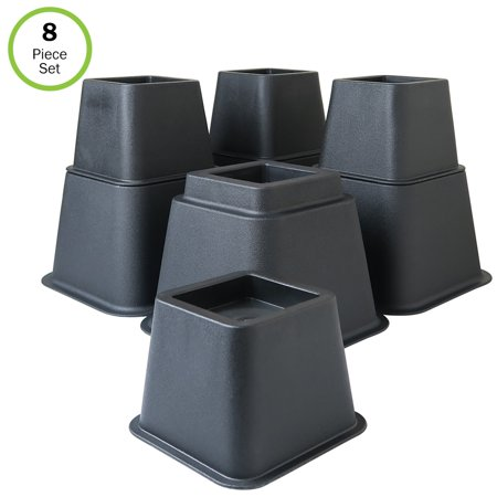3 Riser Blocks (Evelots Bed/Furniture Risers- 3, 5 or 8 Inch Higher-More Space-HEAVY)