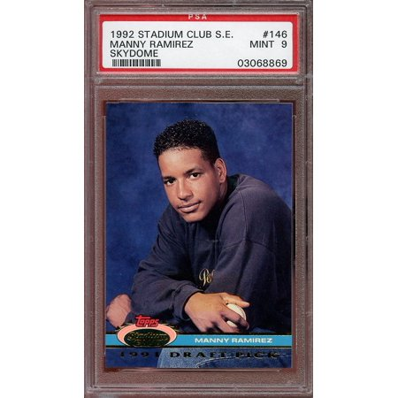 1992 stadium club s.e. skydome #146 MANNY RAMIREZ cleveland indians rookie PSA 9 ()