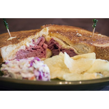 LAMINATED POSTER Corned Beef Sandwich Corned Beef Sandwich Chips Poster Print 24 x