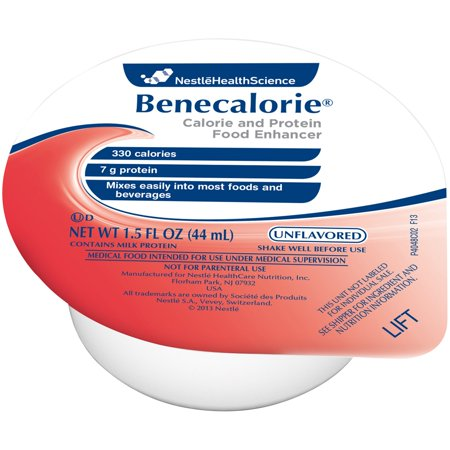 Benecalorie Calorie and Protein Food Enhancer Unflavored 1.5 oz. 24 Cup(s) /Case