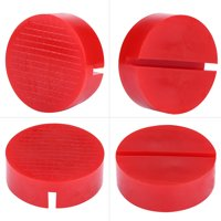 LYUMO Car Universal Slotted Frame Rail Floor Jack Pads Jacking Rubber Pad Adapter Red, Jacking Pad, Rubber Pad