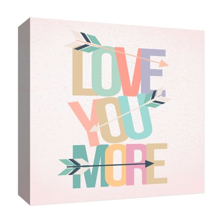 PTM Images,Love You More II, 20x20, Decorative Canvas Wall Art ...