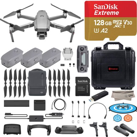 DJI Mavic 2 Pro Drone Quadcopter, Fly More Combo Kit, Hasselblad Camera HDR Video, with 3 Batteries, 128GB Micro SD, Landing Gear & Pad, Prop Holder, Stick Protector, Extra Hard Carrying