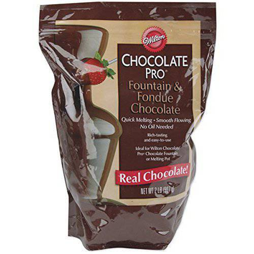 Wilton Chocolate Pro Fountain & Fondue Melting Wafers, Chocolate 2 lbs. 2104-2618