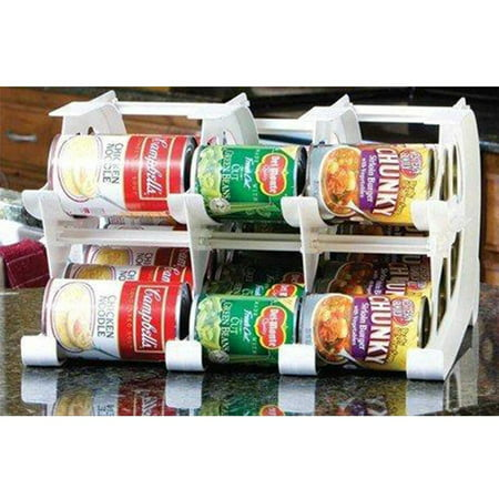 FIFO - Mini Can Tracker - Shelf Can Rotator - Pantry Tin Can Food Storage Rotation System