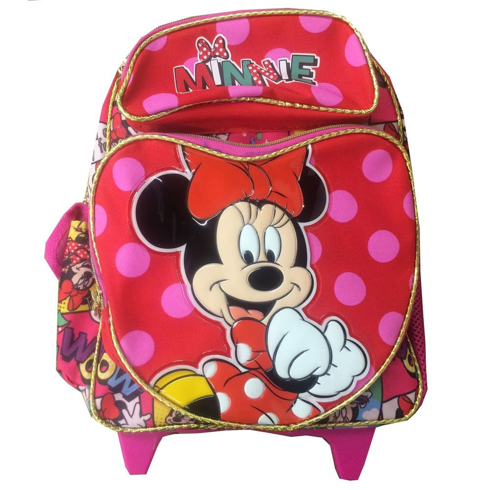 Small Rolling Backpack - Disney - Minnie Mouse - Comic Book New Bag 636135