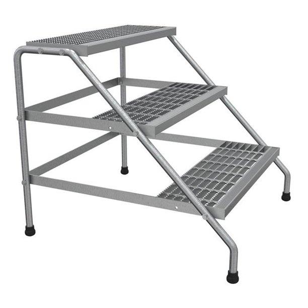 Vestil Manufacturing Ssa 3w Kd Aluminum Wide Knock Down 3 Step Stand Walmart Com Walmart Com