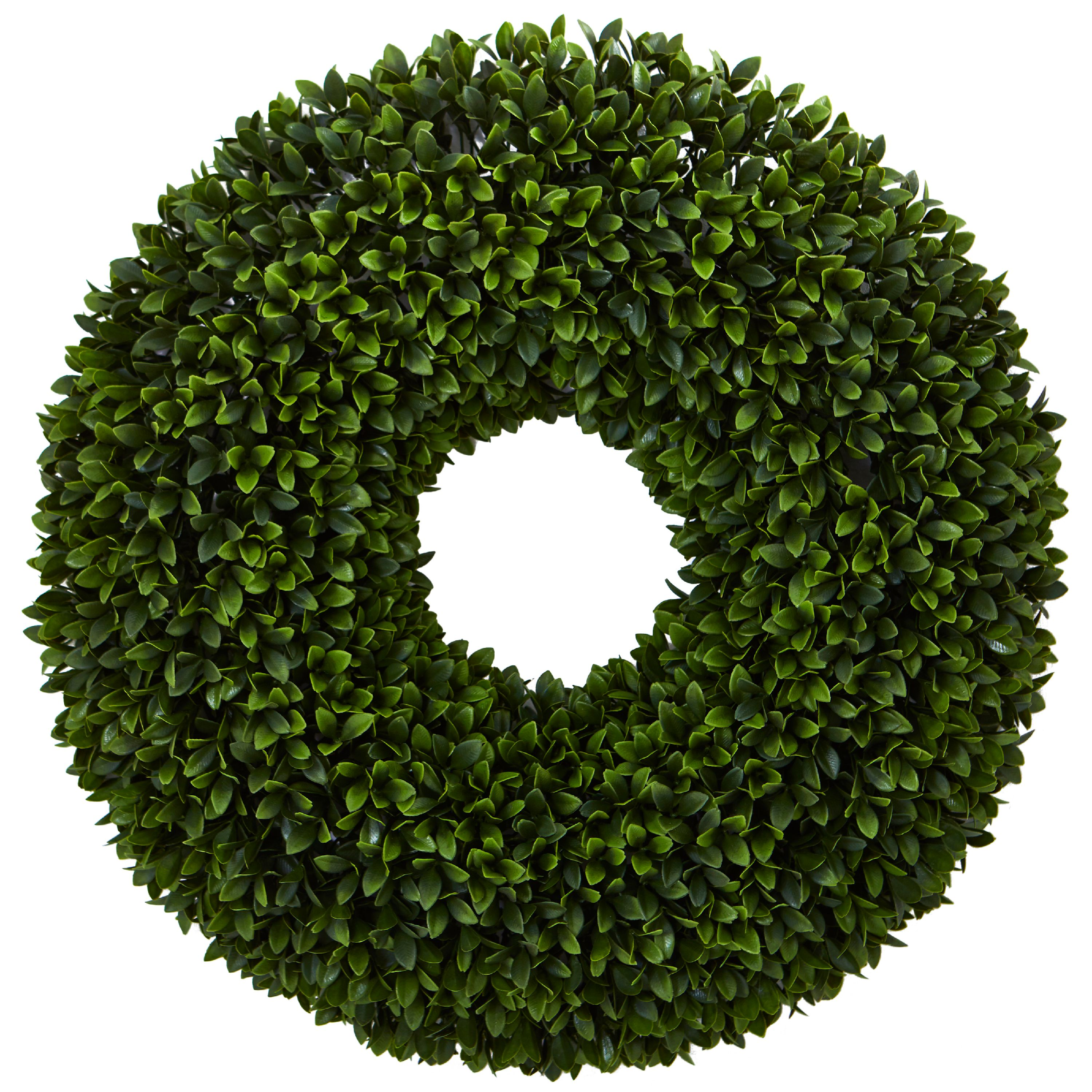 Nearly Natural 24-In. Boxwood Artificial Wreath