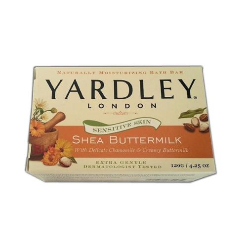 Yardley London Sensitive Skin Shea Buttermilk Bar Soap, 4.25 oz (Pack of 2)