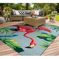 Covington Flamingos Multi Indoor/Outdoor Area Rug - Multiple Sizes