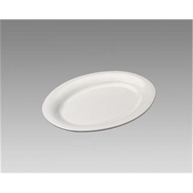 Gessner Products IW-0334BN Oval Platter, 7. 25 inch x 5 inch- Case of 12