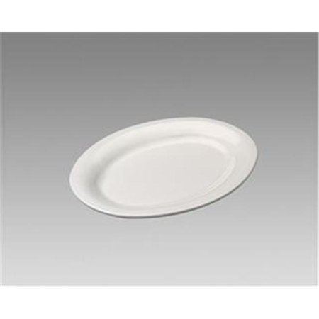 - Gessner Products IW-0334BN Oval Platter, 7.25 in. x 5 in.- Case of 12