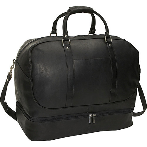David King 20'' Leather Bottom Compartment Travel Duffel