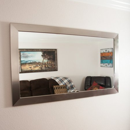 BrandtWorks Designers Choice Modern Wall Mirror - Silver
