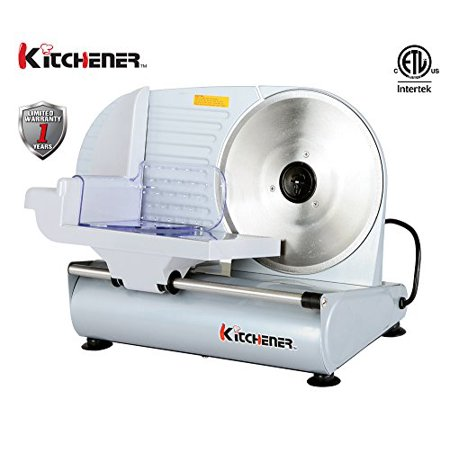 Kitchener 9 Inch Professional Electric Meat Deli Cheese Food Slicer  Stainless Steel Blade  150 Watt