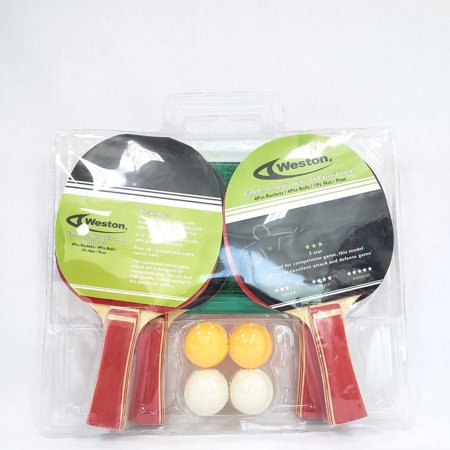 Weston Halloween Ball (Weston 3 Star 4 Player Racket With Net and Posts 4 Balls Table Tennis)