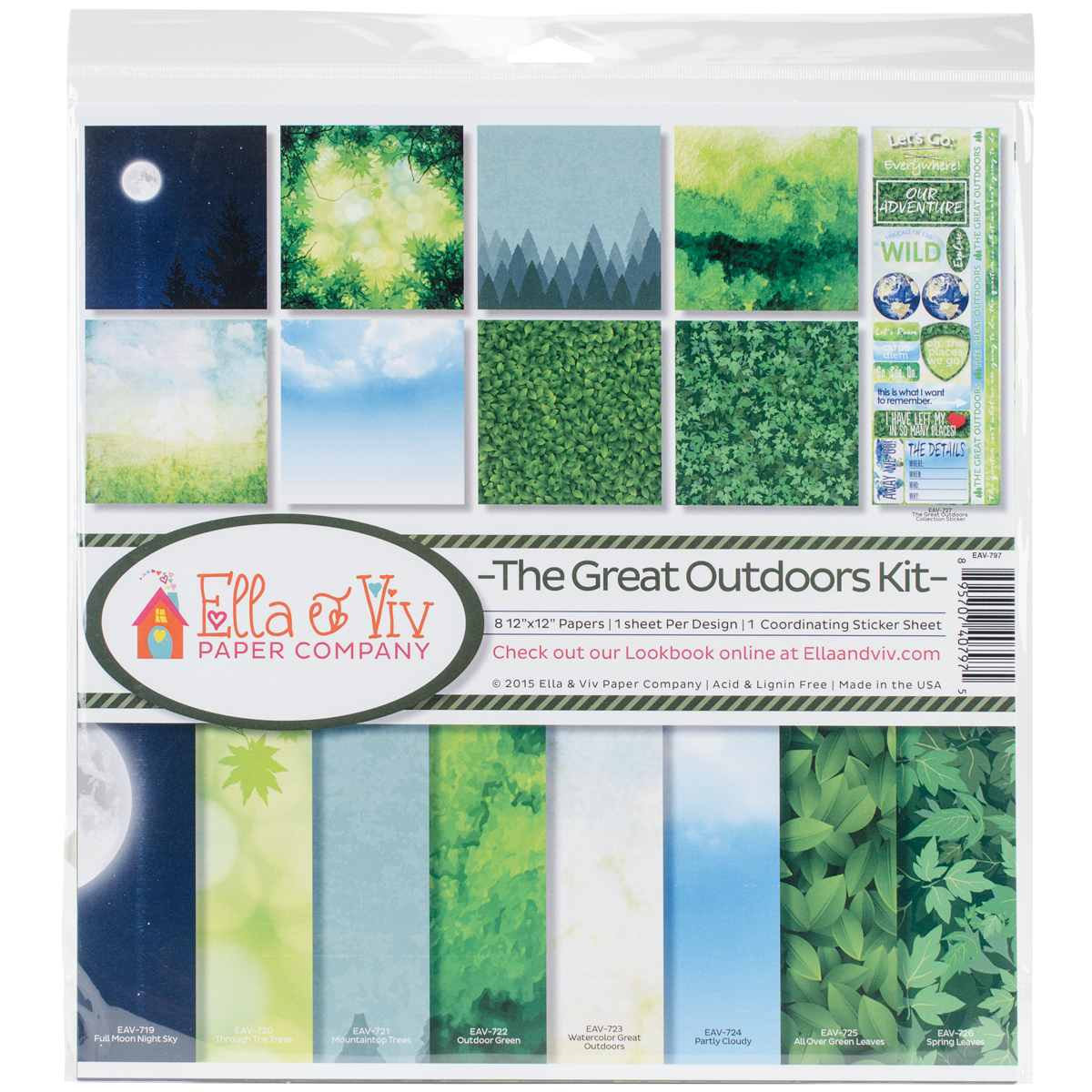 "Ella & Viv Collection Kit 12"" x 12"" - The Great Outdoors"