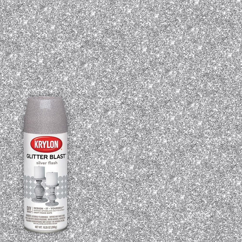 Krylon Glitter Blast, Silver Flash, 5.75 oz.