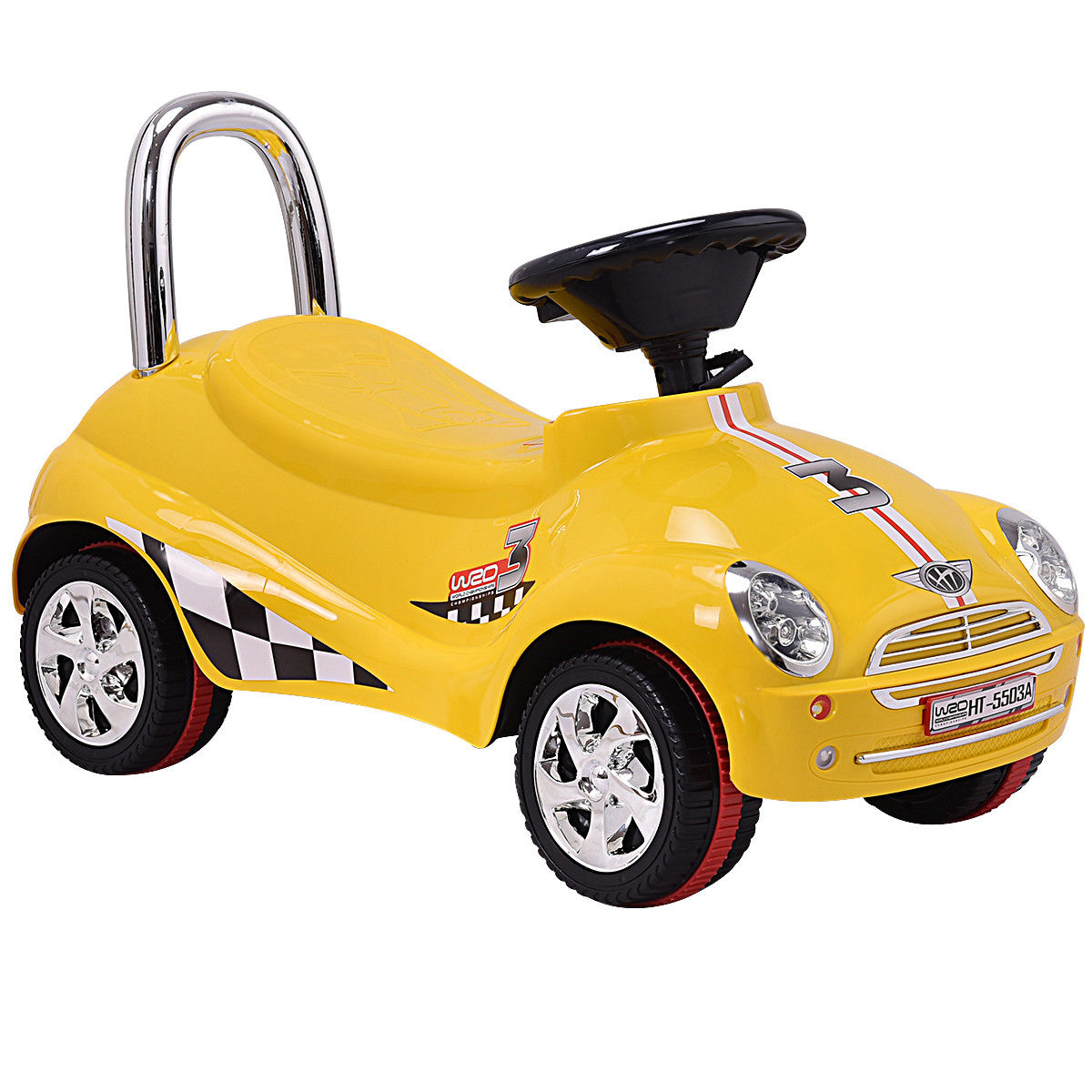 Gymax Kids Ride On Push Car Gliding Scooter Toddler with Sound & Light Christmas Gift by Gymax