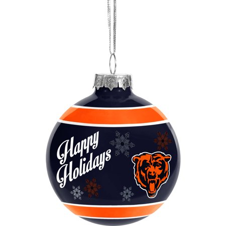 Chicago Bears Glass Ball Ornament