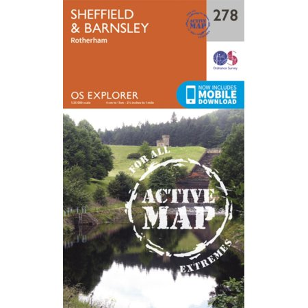 - OS Explorer Map Active (278) Sheffield and Barnsley (OS Explorer Active Map) (Map)