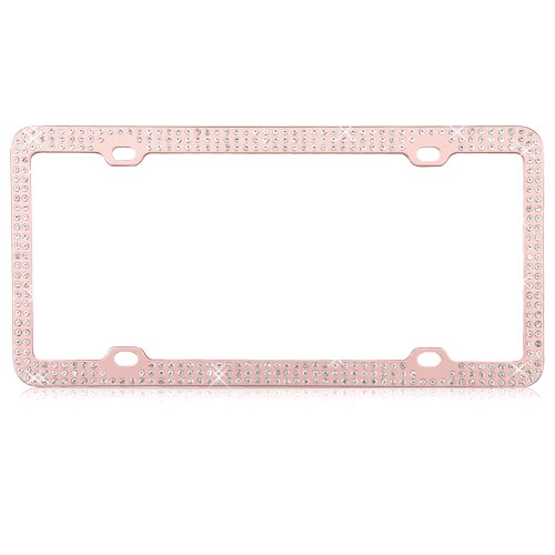 Auto Drive Rose Gold License Plate Frame - Walmart.com