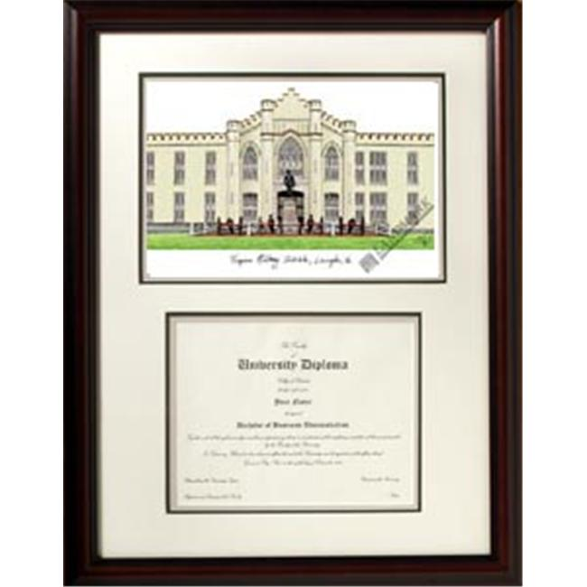 Campus Images VA984V Virginia Military Institute Scholar Stain Mahogany Frame