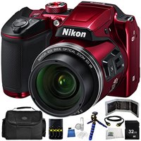 Nikon COOLPIX B500 Digital Camera (Red) 10PC Kit