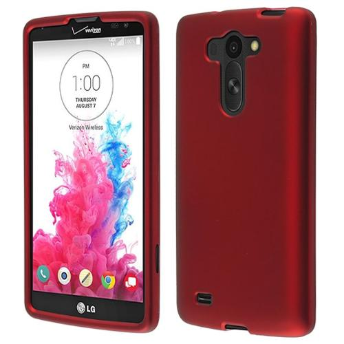 Insten Red Snap-On Phone Protective Case Hard Cover Shell For LG G Vista VS880
