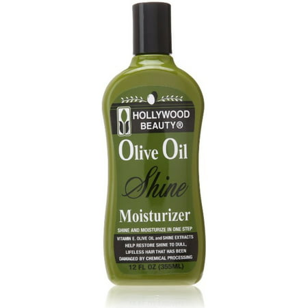 Hollywood Beauty Olive Oil Moist & Shine Moisturizing Hair Lotion, 12 oz (Pack of 3)