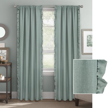 Better Homes & Gardens Vertical Ruffle Window Curtain Panel Vertical Raised Panel