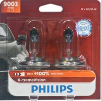 Philips X-Tremevision Headlight 9003, P43T-38, Clear, Always Change In Pairs!