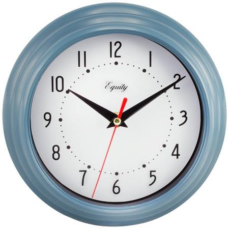 Equity By La Crosse 25014 8 Inch Slate Blue Analog Wall Clock ()