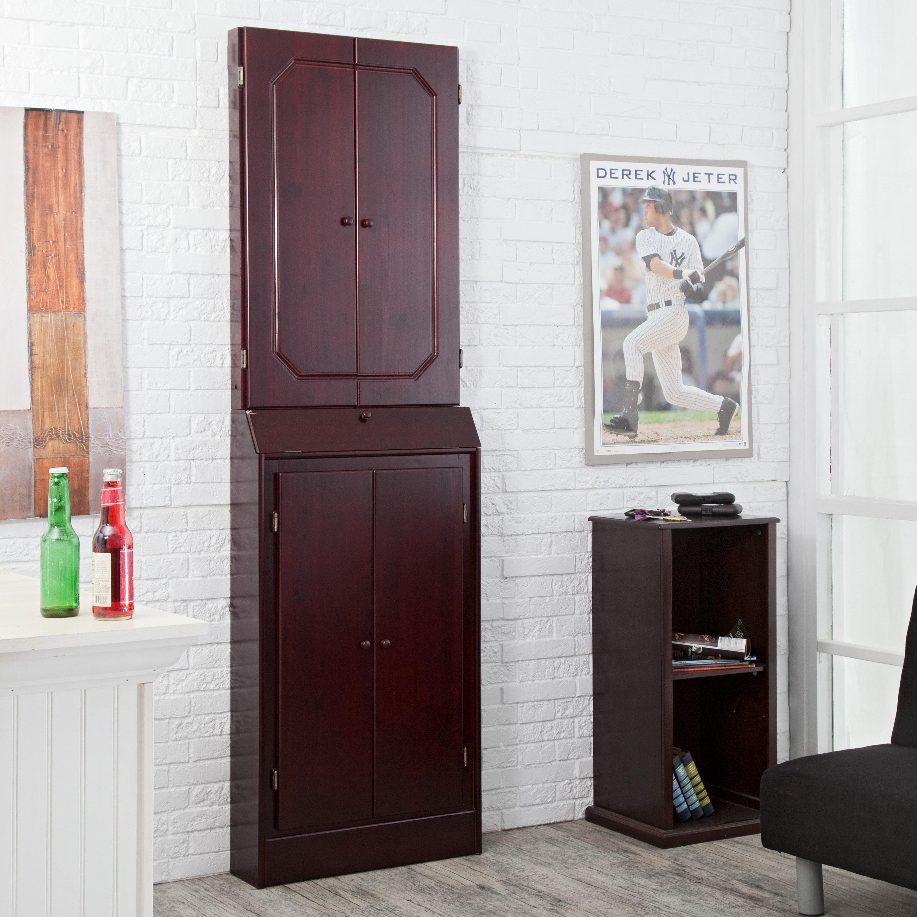 Worcester Arcade Style Solid Wood Dart Board Cabinet Walmart Com