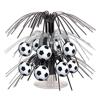 Soccer Ball Mini Cascade Centerpiece](Soccer Themed Centerpiece Ideas)